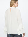 Dramatic Sleeve Top Soft White