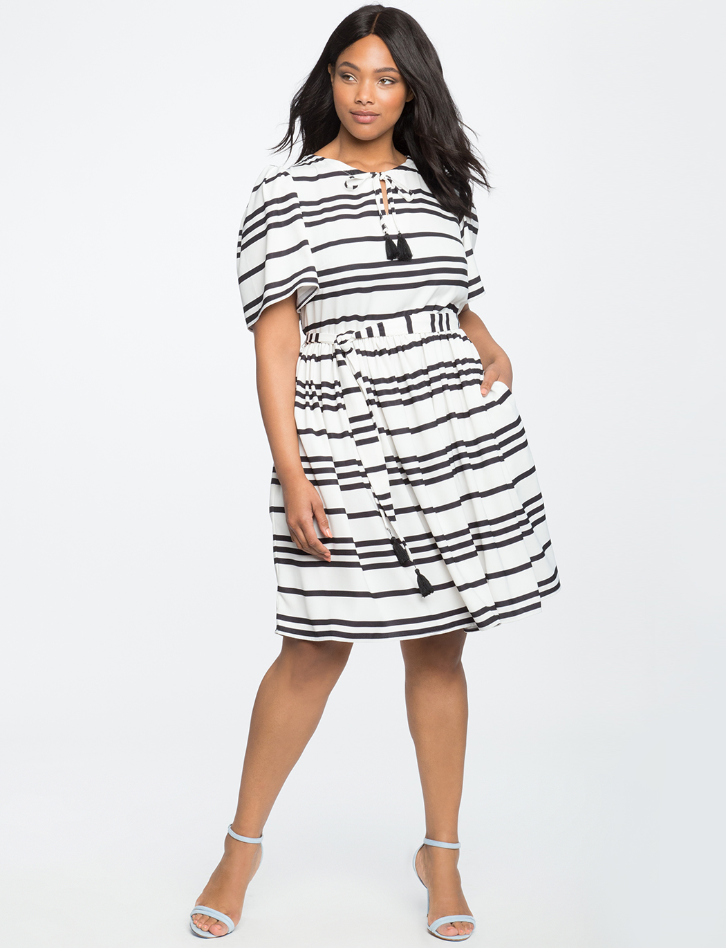 d7fe0965ba4a Circle Sleeve Fit and Flare Dress | Women's Plus Size Dresses | ELOQUII