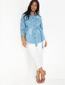 Denim Shacket Light Wash