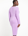 Twist Front Dress English Lavender