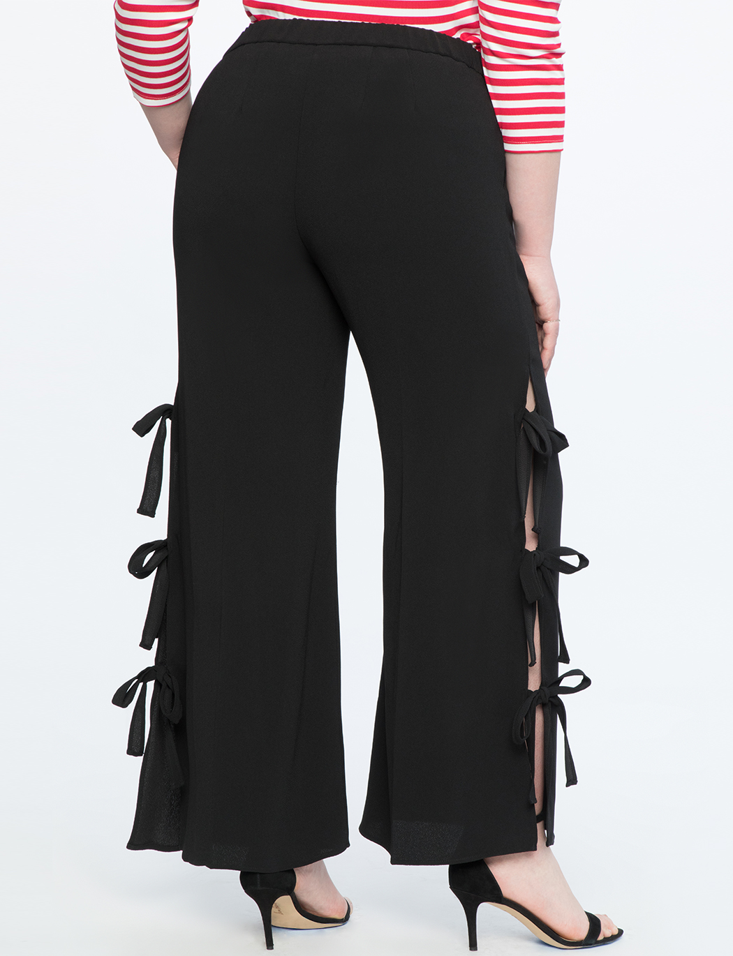 Side Tie Wide Leg Trouser