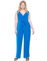 Bow Detail Wide Leg Jumpsuit Cobalt/Bright Blue