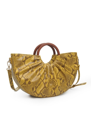 Snake Print Satchel Bag
