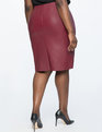 Faux Leather Pencil Skirt Wine