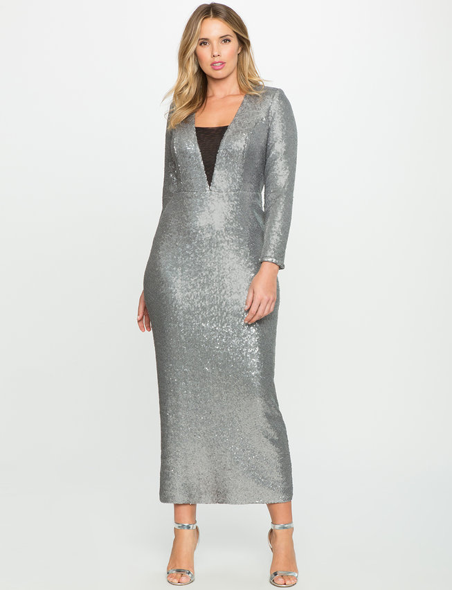 Studio Sequin Fitted Gown