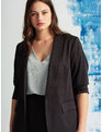 Essential Soft Blazer with Gathered Sleeve Totally Black