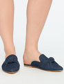 Denim Knotted Mule DARK WASH