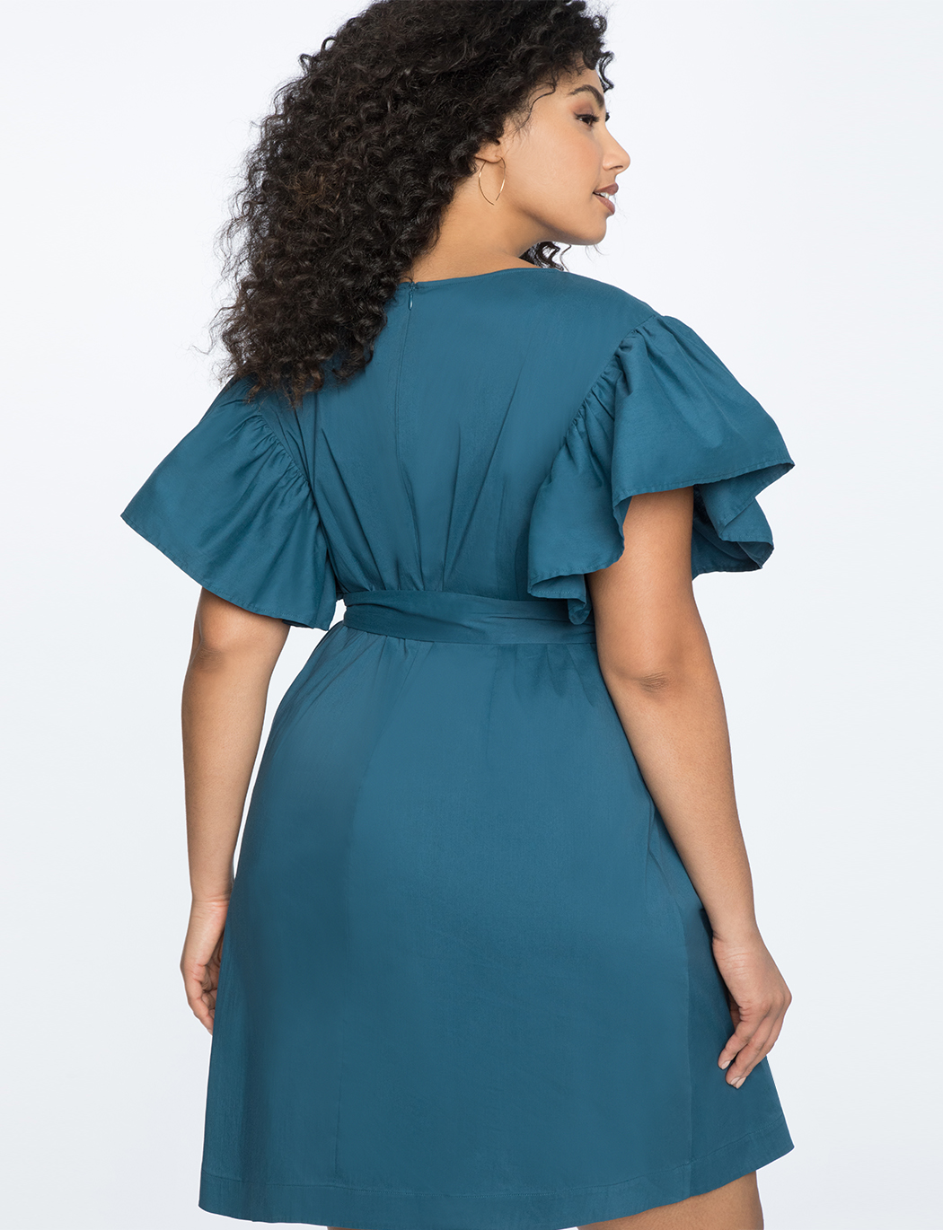 Flutter Sleeve Belted Easy Dress