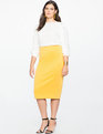 Neoprene Pencil Skirt Spicy Mustard