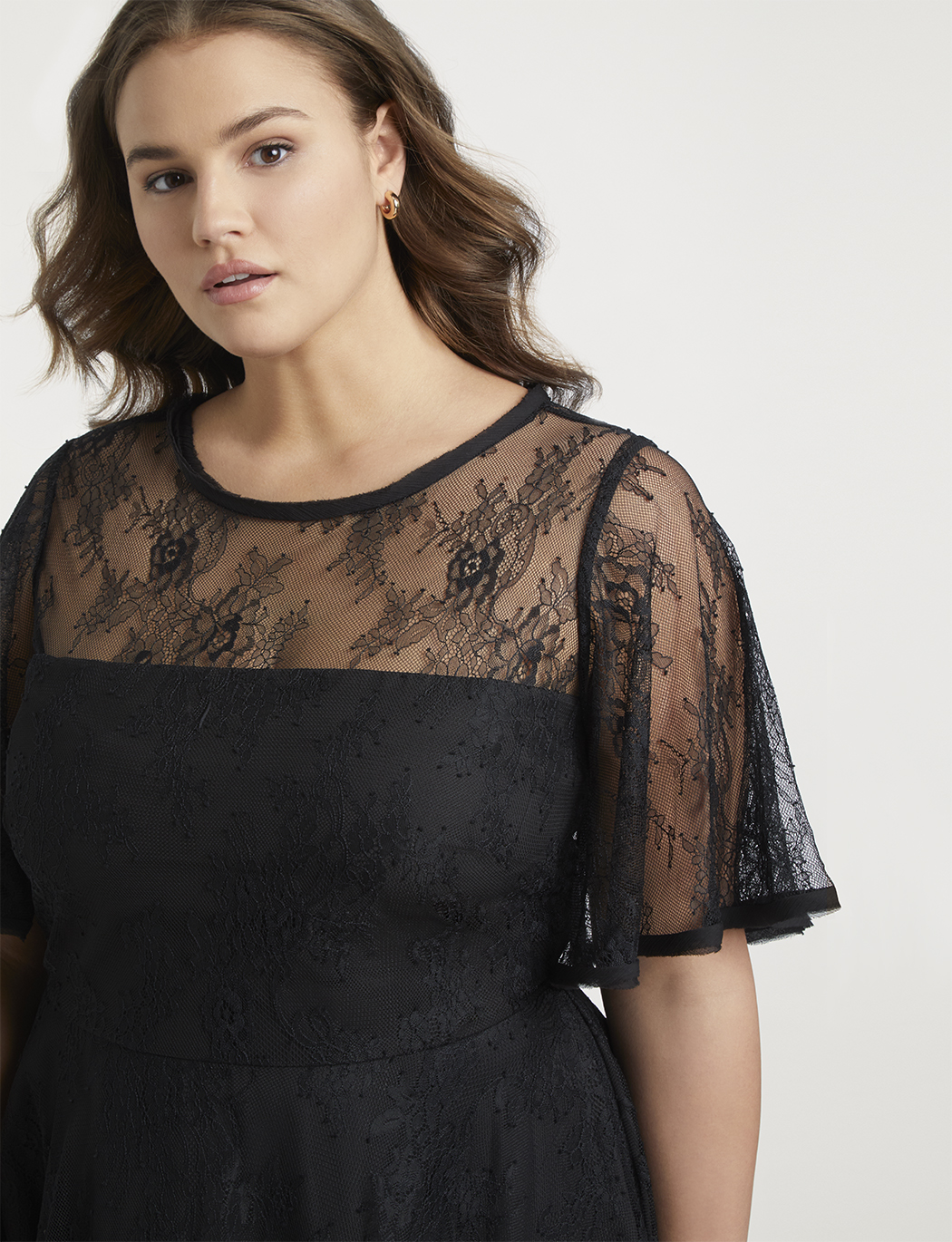 Jason Wu/ELOQUII Pleated Lace Dress