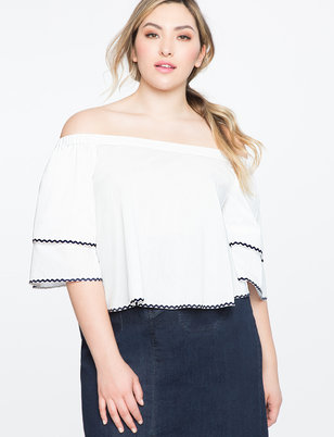 Tiered Sleeve Off the Shoulder Top