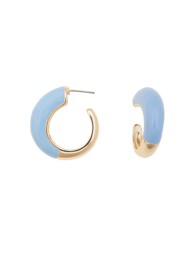 Enameled Hoop Earring