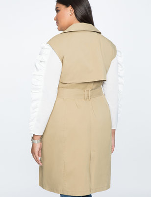 Sleeveless Trench Vest