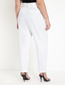 High Waisted Trouser with Belt White