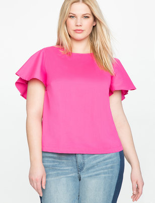 Circle Sleeve Tie Back Top
