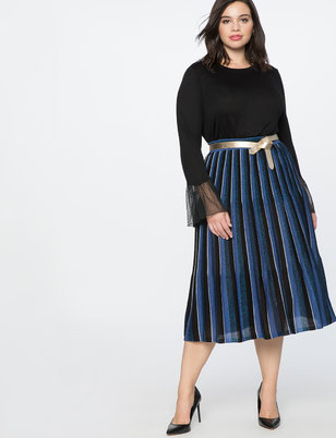 Pleated Sweater Skirt