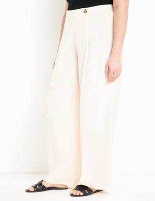 Wide Leg Pant with Overlay