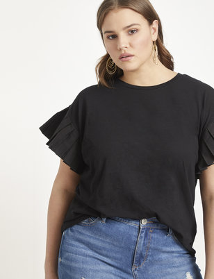 Pleated Sleeve Popover
