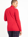Tie Neck Sweater Jester Red