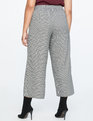 Houndstooth Crop Trouser Black And White