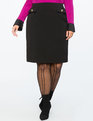 Column Skirt with Pocket Detail Black