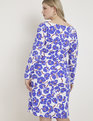 Draped Front Long Sleeve Sheath Dress Bold Rush Floral