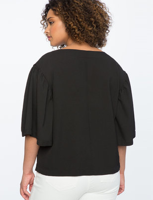 Pearl Neck Detail Top