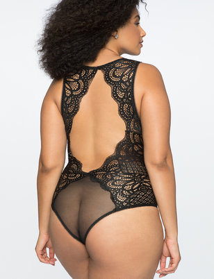 Lace Bodysuit with Clasp