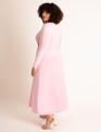 Twist Front Fit And Flare Dress Pink
