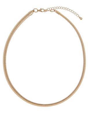 Flat Chain Collar Necklace