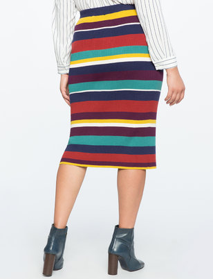 Stripe Rib Knit Skirt