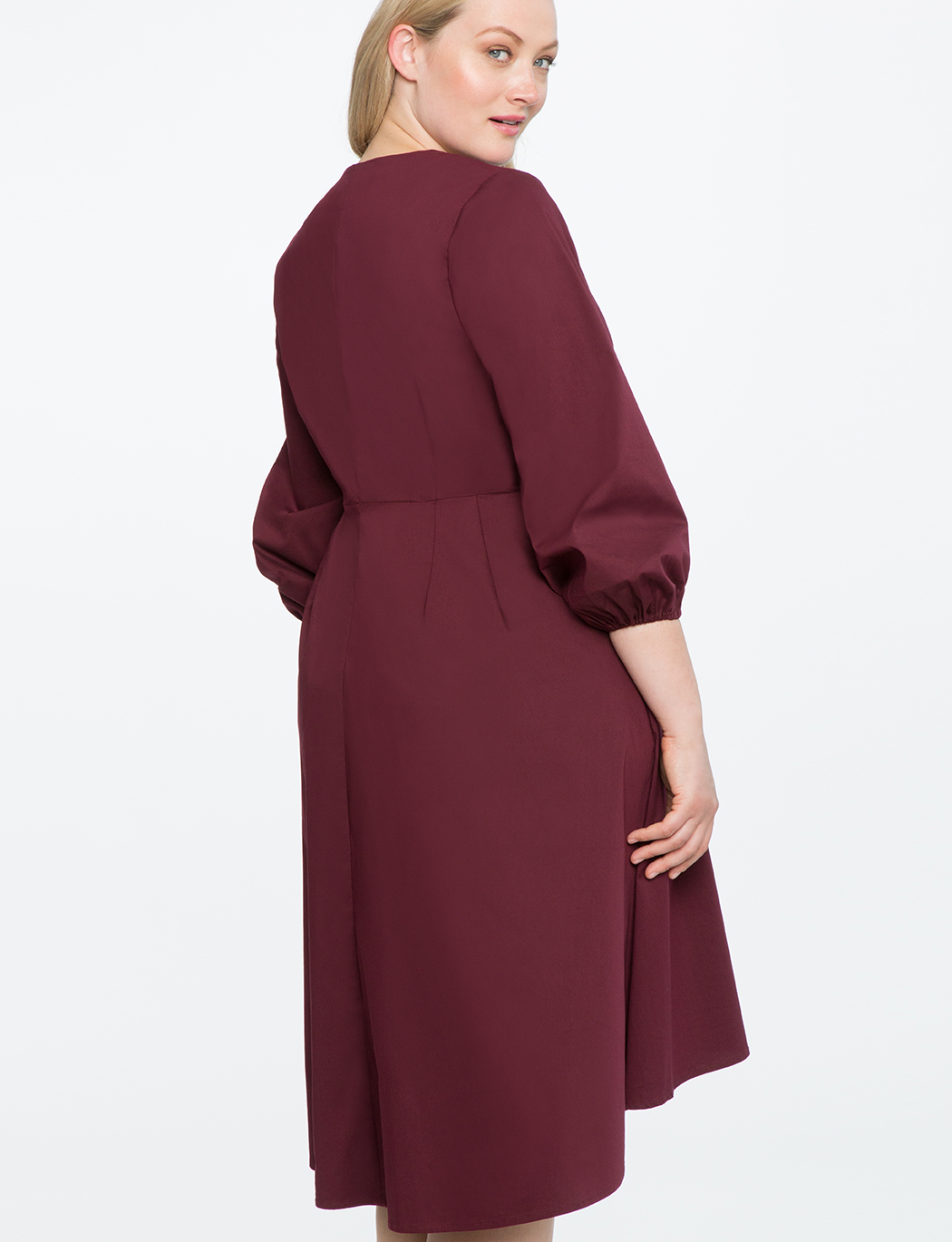 Tie Front Easy Dress with Puff Sleeve