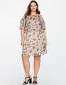 Two Tiered Dress with Scoop Neckline THISLE DO PRINT