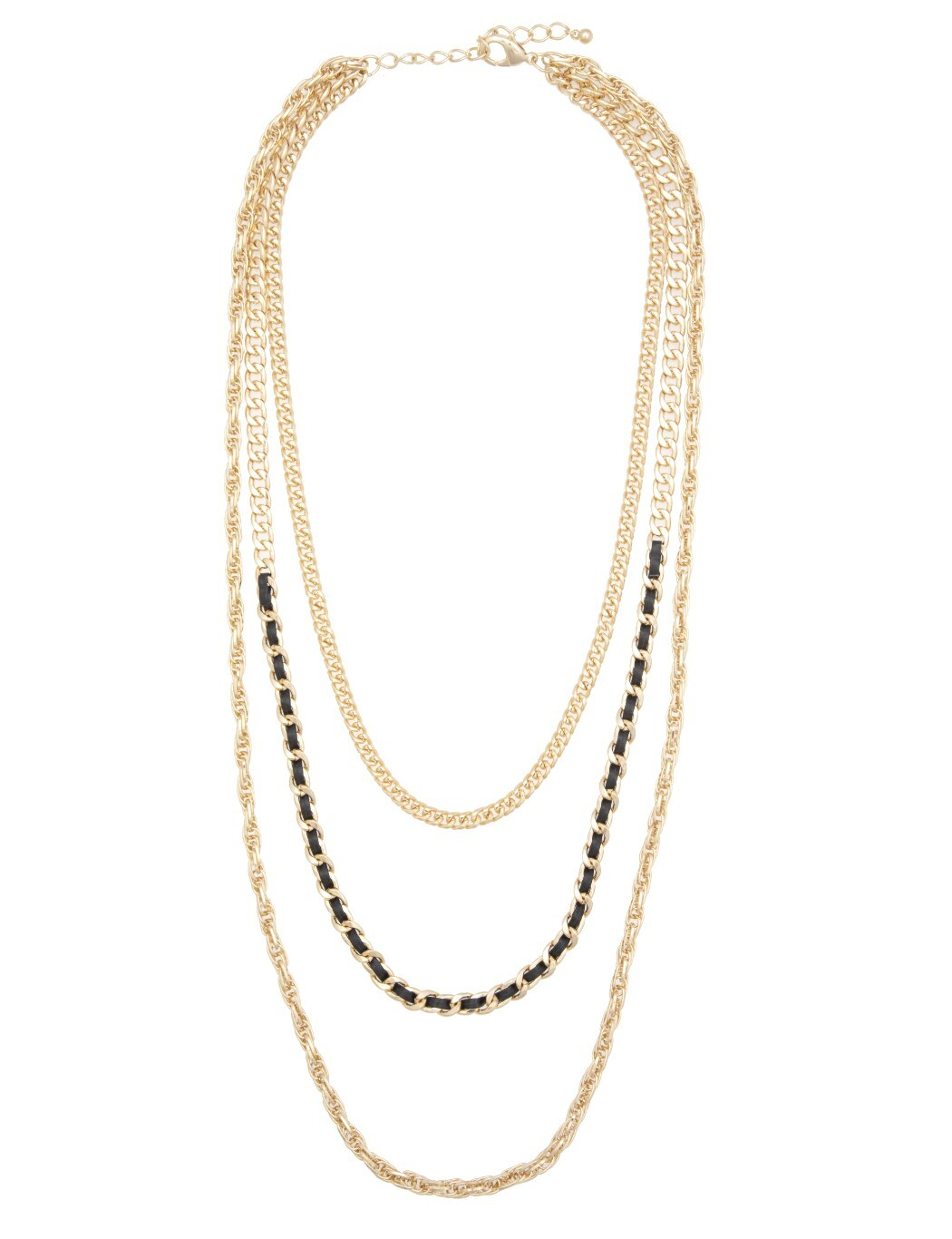 Layered Metal Chain Necklace