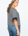 Feather Embellished Raglan Sleeve Top SQUIGGLY SANCTUARY