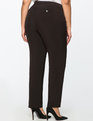 Sam Straight Leg Crepe Pant Totally Black