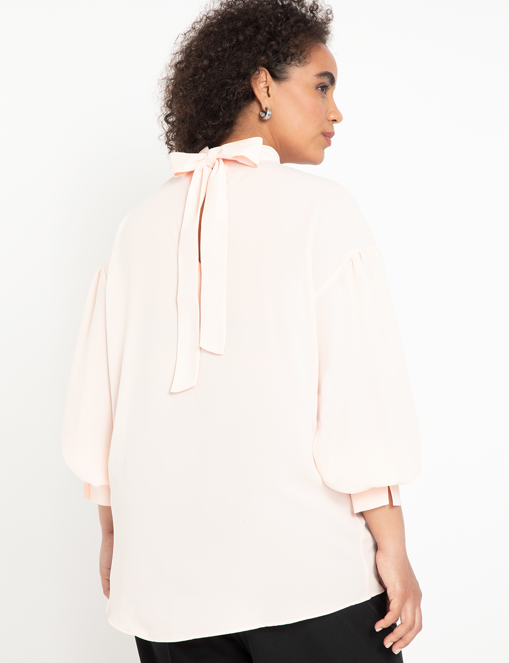 Blouse with Back Neck Tie