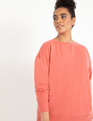 Tie Back Sweatshirt Faded Rose
