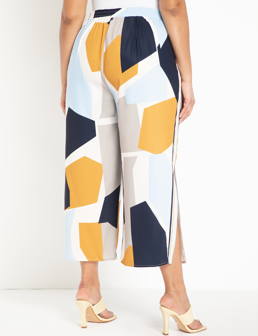 Printed Crop Pant with Side Slits