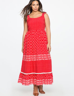 Flounce Hem Maxi Dress