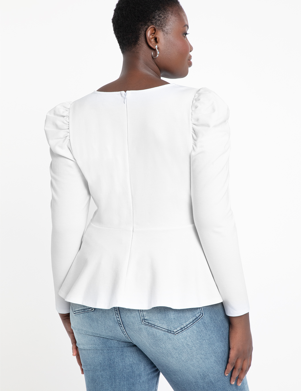 Dramatic Puff Sleeve Peplum Top
