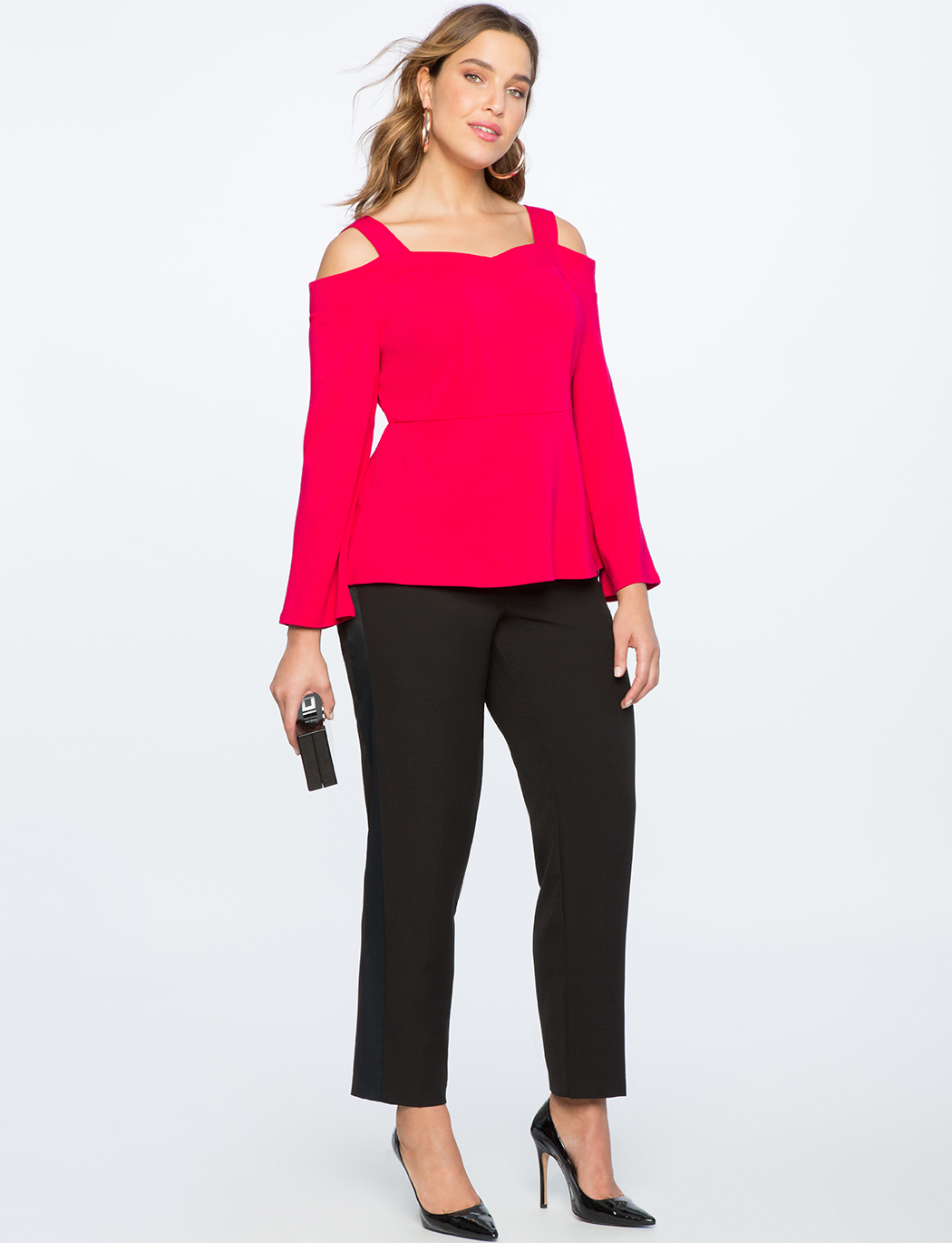 Cold Shoulder Sweetheart Neckline Top
