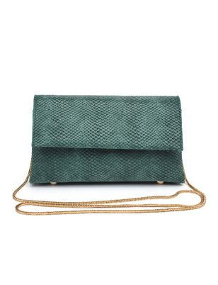 Textured Triangle Clutch - Extended Length