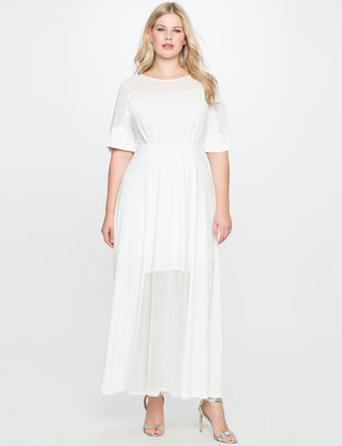 Studio Sheer Detail Gown