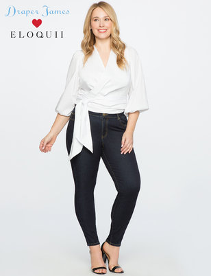 Draper James for ELOQUII Denim with Howdy Embroidery