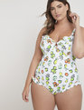 Retro Ruffle One Piece Swimsuit Citrus Margarita