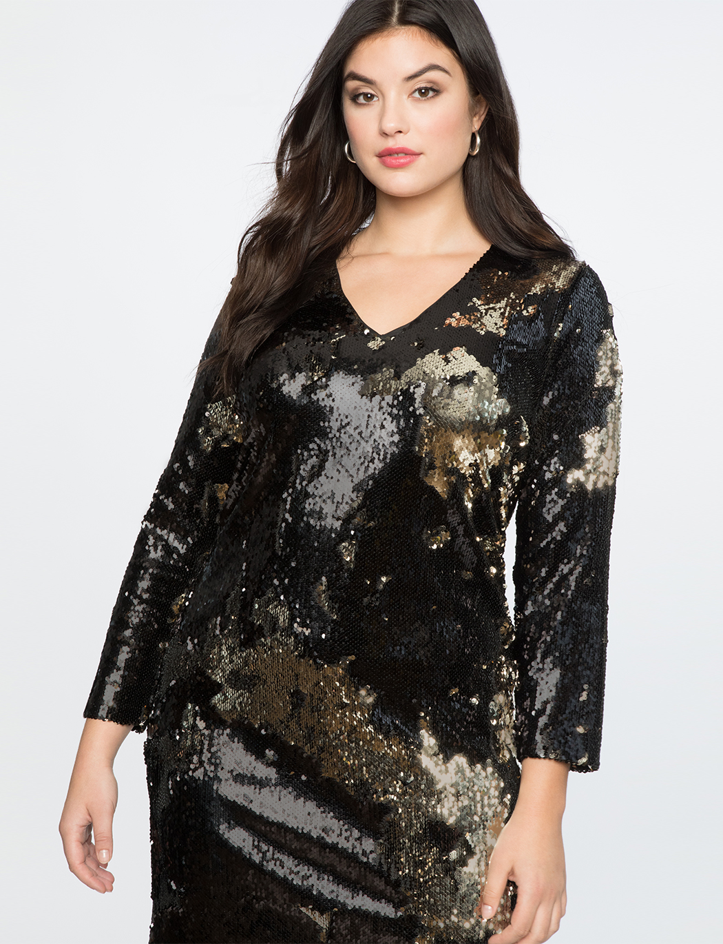 Long Sleeve Sequin Sheath