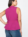 Tie Neck Top with Cut Outs Crushed Berry