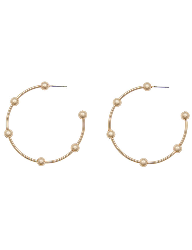 Ball Detailed Hoop Earrings