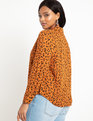 Notch Collar Button Down Cheetah Rivera